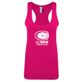 Next Level Ladies Raspberry Ideal Racerback Tank-Primary Mark