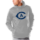 Under Armour Grey Armour Fleece Hoodie-Secondary Athletics Mark