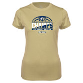 Ladies Syntrel Performance Vegas Gold Tee-Big West Conference 2017 Regular Season Womens Basketball Champs