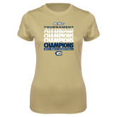 Ladies Syntrel Performance Vegas Gold Tee-Big West Mens Basketball Tournament Champions