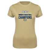 Ladies Syntrel Performance Vegas Gold Tee-2018 Regular Season Womens Basketball Champions