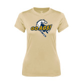 Ladies Syntrel Performance Vegas Gold Tee-Go Ags Logo