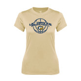 Ladies Syntrel Performance Vegas Gold Tee-Basketball Arched