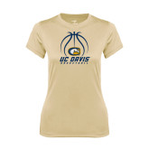 Ladies Syntrel Performance Vegas Gold Tee-Basketball Stacked