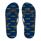 Ladies Full Color Flip Flops-UC DAVIS