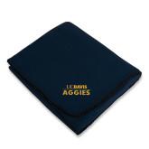 Navy Arctic Fleece Blanket-UC DAVIS Aggies