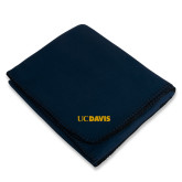 Navy Arctic Fleece Blanket-UC DAVIS