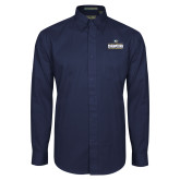 Navy Twill Button Down Long Sleeve-Big West Mens Basketball Tournament Champions