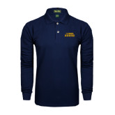Navy Long Sleeve Polo-UC DAVIS Aggies