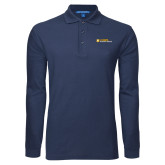 Navy Long Sleeve Polo-Veterinary Medicine