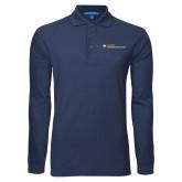 Navy Long Sleeve Polo-Undergraduate Education