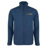Navy Softshell Jacket-UC DAVIS