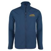 Navy Softshell Jacket-UC DAVIS Aggies