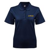 Ladies Easycare Navy Pique Polo-Aggie Pride w/ Tagline