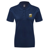Ladies Easycare Navy Pique Polo-Primary Mark