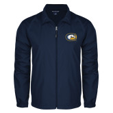 Full Zip Navy Wind Jacket-Official Logo