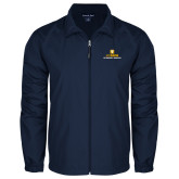 Full Zip Navy Wind Jacket-Veterinary Medicine