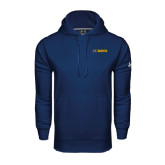 Under Armour Navy Performance Sweats Team Hoodie-UC DAVIS