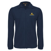 Fleece Full Zip Navy Jacket-Veterinary Medicine