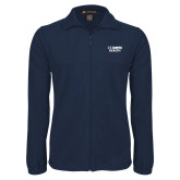Fleece Full Zip Navy Jacket-UC Davis Health