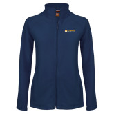 Ladies Fleece Full Zip Navy Jacket-School of Law
