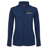 Ladies Fleece Full Zip Navy Jacket-School of Law