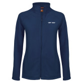 Ladies Fleece Full Zip Navy Jacket-School of Medicine