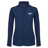Ladies Fleece Full Zip Navy Jacket-UC Davis Health