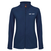 Ladies Fleece Full Zip Navy Jacket-UC Davis Childrens Hospital