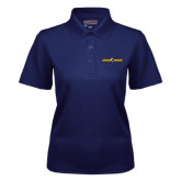Ladies Navy Dry Mesh Polo-Aggie Pride