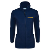 Columbia Ladies Full Zip Navy Fleece Jacket-UC DAVIS