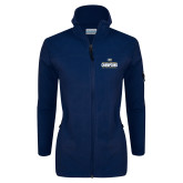 Columbia Ladies Full Zip Navy Fleece Jacket-Big West Mens Basketball Tournament Champions