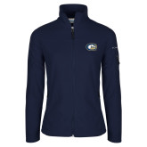 Columbia Ladies Full Zip Navy Fleece Jacket-C Horse Mark