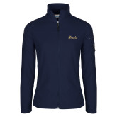 Columbia Ladies Full Zip Navy Fleece Jacket-Script Davis