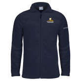 Columbia Full Zip Navy Fleece Jacket-Graduate School of Management Stacked