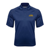 Navy Textured Saddle Shoulder Polo-UC DAVIS Aggies