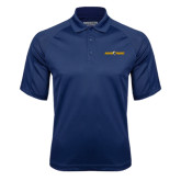 Navy Textured Saddle Shoulder Polo-Aggie Pride