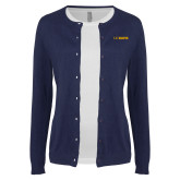 Ladies Navy Cardigan-UC DAVIS
