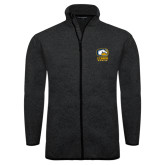 Black Heather Fleece Jacket-Primary Mark