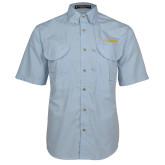 Light Blue Short Sleeve Performance Fishing Shirt-UC DAVIS