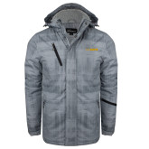 Grey Brushstroke Print Insulated Jacket-UC DAVIS