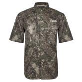Camo Short Sleeve Performance Fishing Shirt-Script Davis