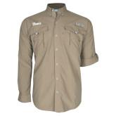 Columbia Bahama II Khaki Long Sleeve Shirt-Script Davis
