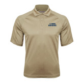 Vegas Gold Textured Saddle Shoulder Polo-UC DAVIS Aggies