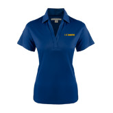 Ladies Navy Performance Fine Jacquard Polo-UC DAVIS