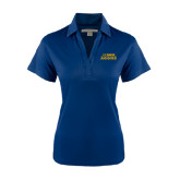 Ladies Navy Performance Fine Jacquard Polo-UC DAVIS Aggies