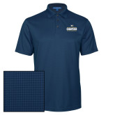 Navy Performance Fine Jacquard Polo-Big West Mens Basketball Tournament Champions