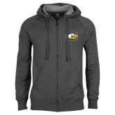 Charcoal Fleece Full Zip Hoodie-Official Logo