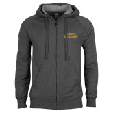 Charcoal Fleece Full Zip Hoodie-UC DAVIS Aggies