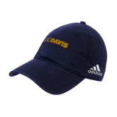Adidas Navy Slouch Unstructured Low Profile Hat-UC DAVIS